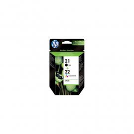 HP 21/22 Cartridge Zwart + Combo Pack 3-Kleuren (SD367AE)