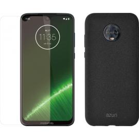 Motorola Moto G7 Plus Blauw + Beschermingspakket
