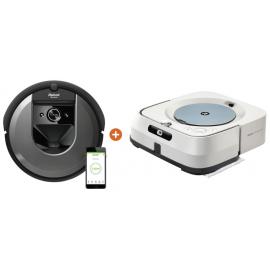 iRobot Roomba i7 robotstofzuiger + iRobot Braava M6138 dweil