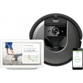 iRobot Roomba i7 + Google Nest Hub Chalk