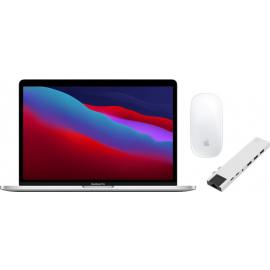 "Apple MacBook Pro 13"" (2020) 16GB/256GB Apple M1 Zilver + Docking Station + Muis"