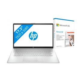 HP 17-cn0970nd + Microsoft 365 Personal NL Abonnement 1 jaar