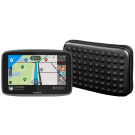 TomTom GO Camper World + Hama Dots Universele Navigatie Tas (6 inch)