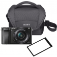 Sony A6000 Zwart + PZ 16-50mm OSS + tas + screenprotector