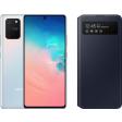 Samsung Galaxy S10 Lite Wit + Samsung S View Wallet Cover Zwart