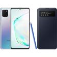 Samsung Galaxy Note 10 Lite Zilver + Samsung S View Wallet Cover Zwart