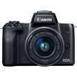 Canon EOS M50 Zwart + 15-45mm IS STM + 55-200mm IS STM