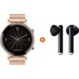 Huawei Watch GT 2 RVS Rose goud 42mm + Freebuds 3 Zwart