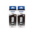 Epson 104 EcoTank Inktfles Duo Pack Zwart