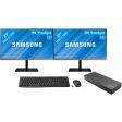 """Dual setup voor thuis 27"""" - 2x Samsung LS27R650FDUXEN met Usb A + C dock"""