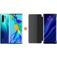 Huawei P30 Pro 128GB Blauw + P30 Pro View Flip Cover Book Case Zwart