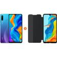 Huawei P30 Lite 128GB Blauw + P30 Lite View Flip Cover Book Case Zwart