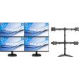 Philips 243V7QDAB: 4 Monitoren set-up met Newstar monitorarm