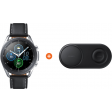 Samsung Galaxy Watch3 Zilver 45 mm + Samsung Draadloze Oplader DUO Pad Zwart