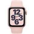 Apple Watch SE 40mm Goud Aluminium Roze Sportband