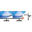Philips 245E1S + Newstar FPMA-D550DBLACK