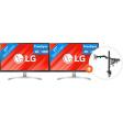 LG 27UL500 + Newstar FPMA-D550DBLACK