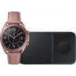 Samsung Galaxy Watch3 Goud 41 mm + Samsung Draadloze Oplader DUO Pad 9W Zwart