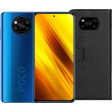 Xiaomi Poco X3 64GB Blauw + Just In Case Xiaomi Poco X3 Book Case Zwart