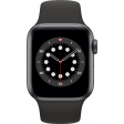 Apple Watch Series 6 40mm Space Gray Aluminium Zwarte Sportband