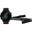 Garmin Forerunner 55 Zwart + Garmin HRM-DUAL Hartslagmeter Borstband Zwart