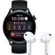 Huawei Watch 3 Active 4G Zwart/Zwart 46mm met oordopjes