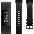 Fitbit Charge 4 Zwart + Fitbit Charge 4 Leren Bandje Zwart S