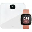 Fitbit Versa 3 Roze/Goud + Fitbit Aria Air Wit