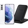 Samsung Galaxy S21 256GB Wit 5G + Samsung Wireless Charger Stand 15W Zwart