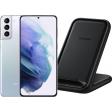 Samsung Galaxy S21 Plus 128GB Zilver 5G + Samsung Wireless Charger Stand 15W Zwart
