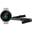 Garmin Forerunner 55 Wit + Garmin HRM-DUAL Hartslagmeter Borstband Zwart