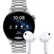 Huawei Watch 3 Elite 4G Zilver/Zilver 46mm met oordopjes