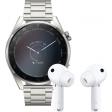 Huawei Watch 3 Pro Elite 4G Zilver/Zilver 49mm met oordopjes