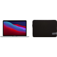 "Apple MacBook Pro 13"" (2020) 16GB/256GB Apple M1 Zilver + Case Logic Reflect Sleeve"
