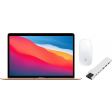 Apple MacBook Air (2020) MGND3N/A Goud + Docking Station + Muis