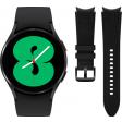 Samsung Galaxy Watch4 44 mm Zwart + Samsung Leren Bandje Zwart M/L 20mm