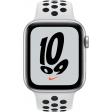 Apple Watch Nike SE 44mm Zilver Aluminium Witte Sportband